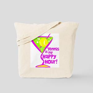 Tennis Happy Hour Tote Bag