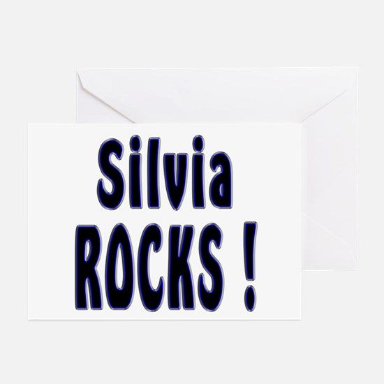 Silvia Rocks ! Greeting Cards (Pk of 10)
