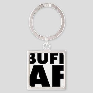 Buff AF Square Keychain