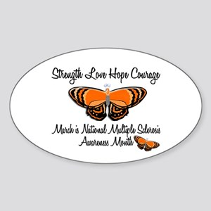 MS Awareness Month 3.2 Oval Sticker