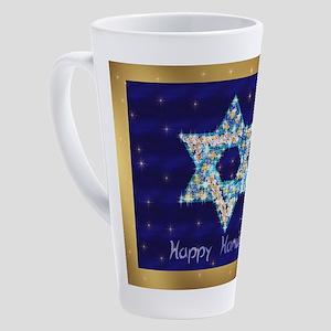 Gems and Sparkles For Hanukkah 17 oz Latte Mug