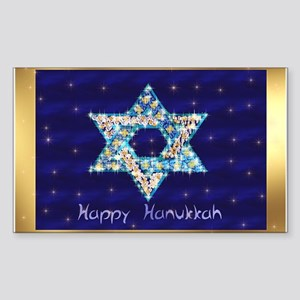 Gems and Sparkles For Hanukkah Sticker (Rectangle)