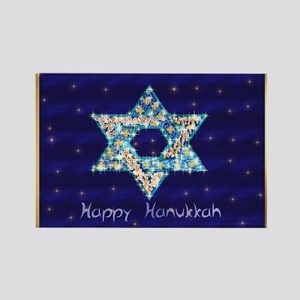 Gems and Sparkles For Hanukkah Rectangle Magnet