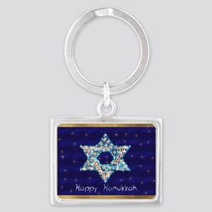 Gems and Sparkles For Hanukkah Landscape Keychain