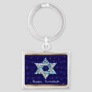 Gems and Sparkles For Hanukkah Landscape Keychain