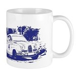 NW SAAB Owners Logo Shirt Blue Mugs