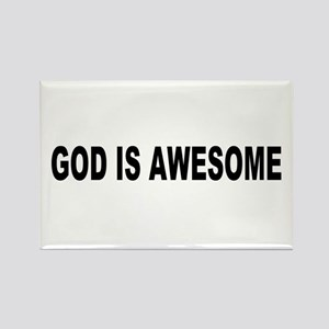 God Is Awesome Rectangle Magnet