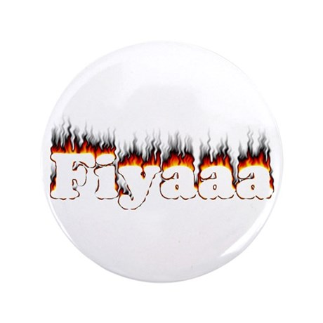 "Black-Red Fiyaaa 3.5"" Button"