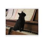 Piano Kitty Throw Blanket