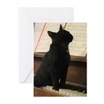Piano Kitty Greeting Cards