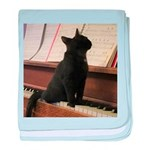 Piano Kitty baby blanket