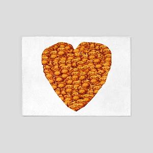 Potato Latke Heart 5'x7'Area Rug