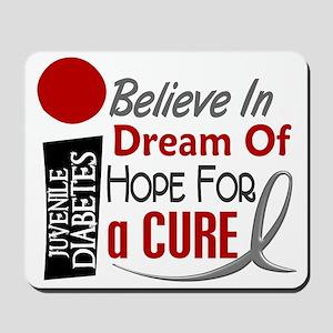 BELIEVE DREAM HOPE J Diabetes Mousepad