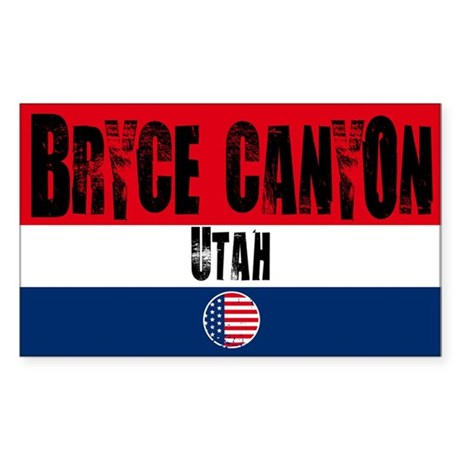 Bryce Canyon Grunge Rectangle Sticker
