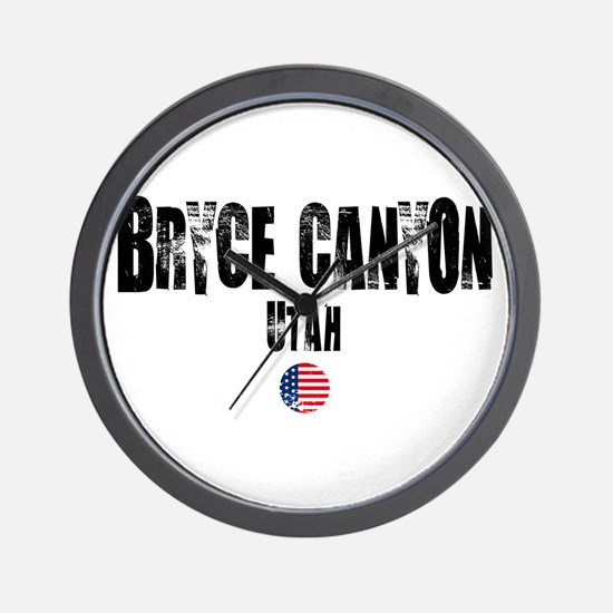 Bryce Canyon Grunge Wall Clock