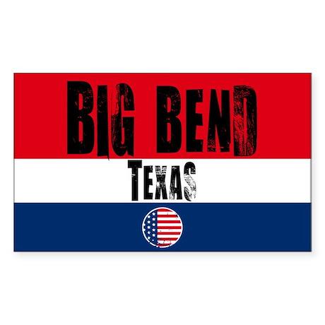 Big Bend Grunge Rectangle Sticker