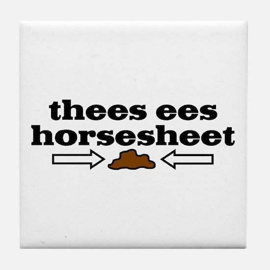 Horseshit Tile Coaster