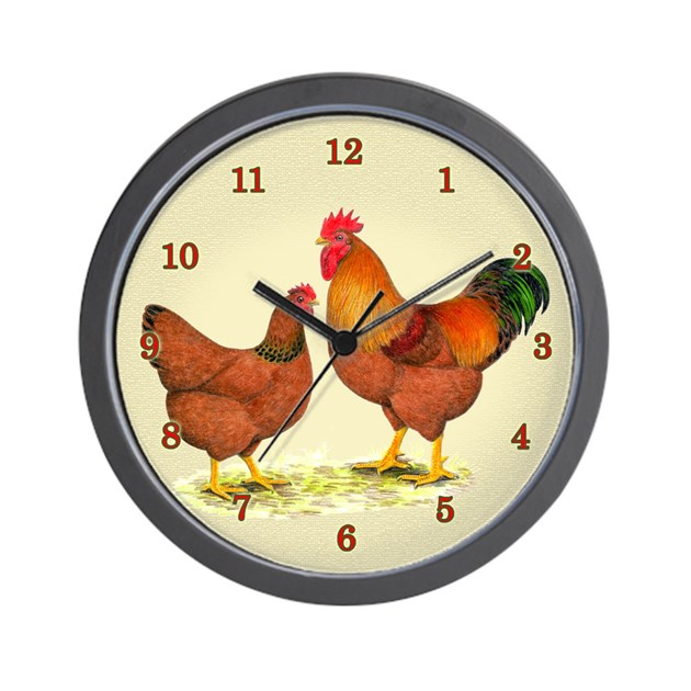New Hampshire Chickens Wall Clock By Jackynet