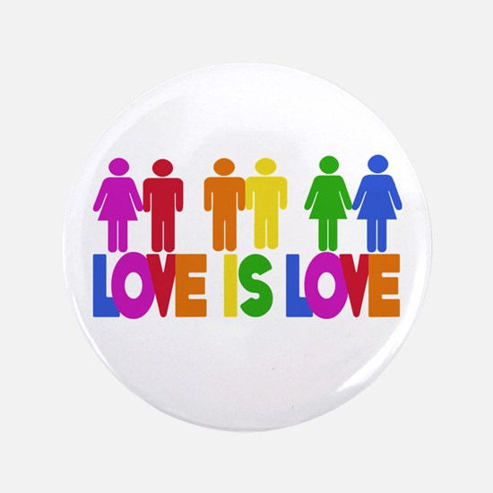 "Love is Love 3.5"" Button"