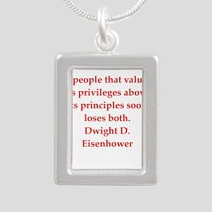 Eisenhower quote Necklaces