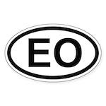Esperanto automobile stickers (Oval 50 pk)