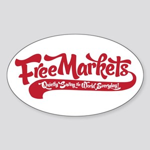 Free Markets Oval Sticker