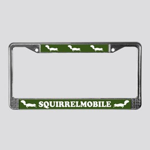 Squirrelmobile License Plate Frame