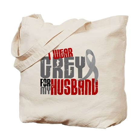 I Wear Grey For My Husband 6 Tote Bag