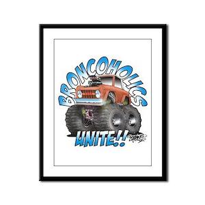 BroncoHolics Unite!!! - Early Framed Panel Print