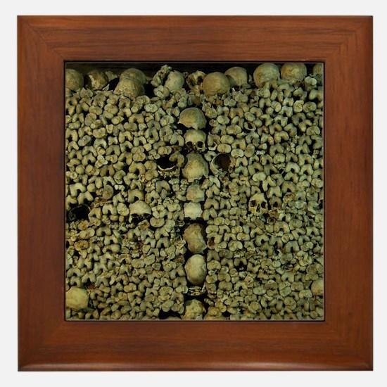 Paris Catacombs Framed Tile