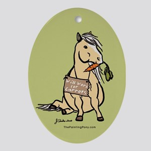 Funny Horse Oval Ornament
