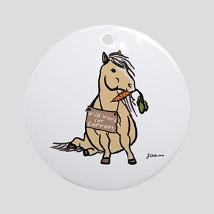 Funny Horse Ornament (Round)
