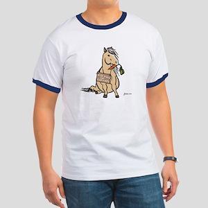 Funny Horse Ringer T