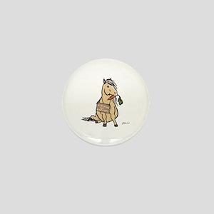 Funny Horse Mini Button