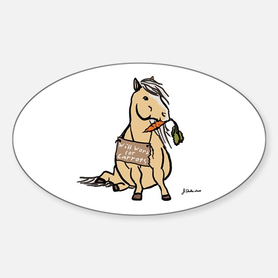 Funny Horse Oval Decal