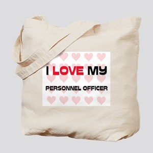I Love My Personnel Officer Tote Bag