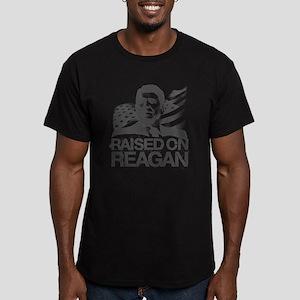 Raised on Reagan Men's Fitted T-Shirt (dark)