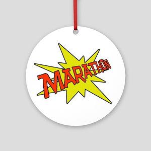 Marathon Pow! Ornament (Round)
