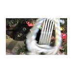 Christmas Tree Kitten Decal Wall Sticker