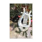 Christmas Tree Kitten Poster Print
