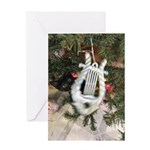 Christmas Tree Kitten Greeting Cards