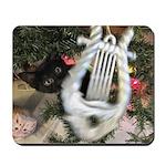 Christmas Tree Kitten Mousepad