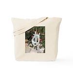 Christmas Tree Kitten Tote Bag