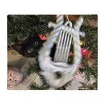 Christmas Tree Kitten Throw Blanket