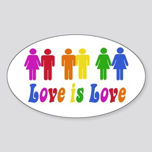 Love is Love Oval Sticker
