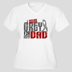 I Wear Grey For My Dad 6 Women's Plus Size V-Neck