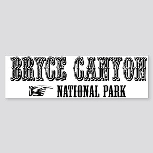Bryce Canyon Western Flair Bumper Sticker