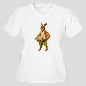 Antique Easter Bunny Women's Plus Size T-shirt