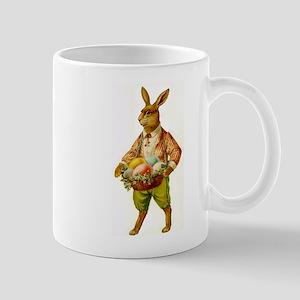 Antique Easter Bunny Basket Gift Coffee Mug