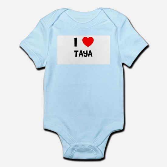 I LOVE TAYA Infant Creeper